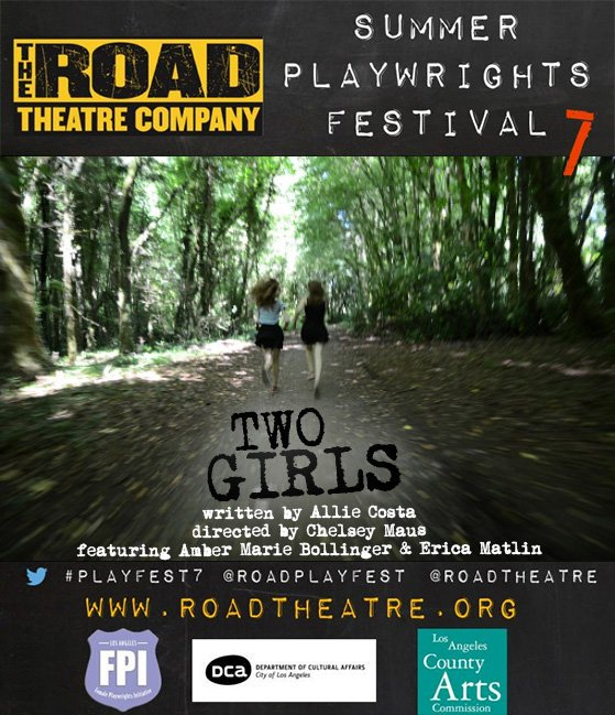 Today at 2 PM PST/5 PM EST Join me & @roadplayfest for a live Twitter chat about TWO GIRLS #SPF7 #whyherstorymatters https://t.co/fstjijBepr