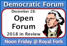 Enjoy lunch and intelligent conversation every Friday at Sioux Falls Democratic Forum!