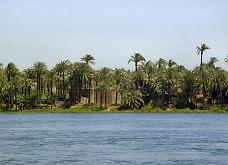Scene from out on the Nile next to Assyut, Egypt.