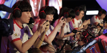 Team Korea during the grand finals of the Arena of Valor World Cup.