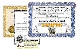 Minister Ordination - Messianic Jewish Ministry Elohei Kedem