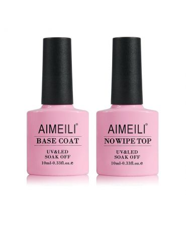 AIMEILI - Base and No Wipe Top Coat Kit