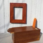 False Grained Frame and Candle Box