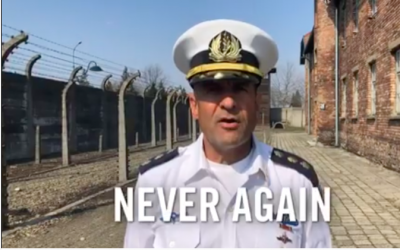 A screenshot from a video uploaded by the IDF on Holocaust Memorial Day on May 2, 2019. (screenshot: IDF)