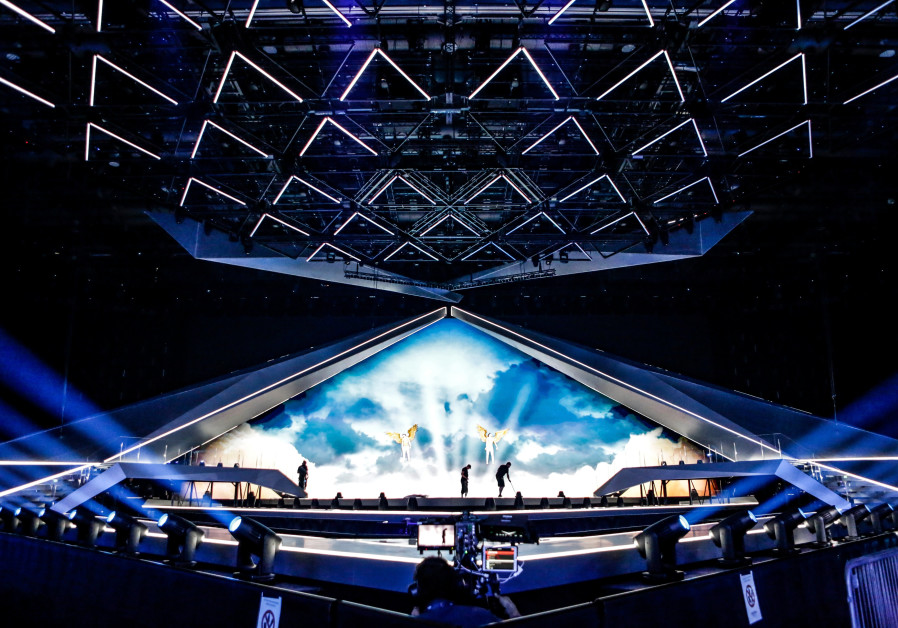Croatia takes part in a Eurovision rehearsal at the Expo Tel Aviv on Tuesday