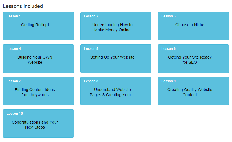 Picture of lessons from Online Entrepreneur Certification - Getting Started