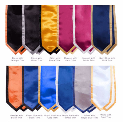 The Honor Cord Co's Graduation Stole color options