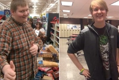 Teen Loses 115 Pounds By Walking To And From School Every Day.