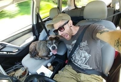 Veteran Takes Service Dog On 2,500 Mile Road Trip To Save Dog's Life.