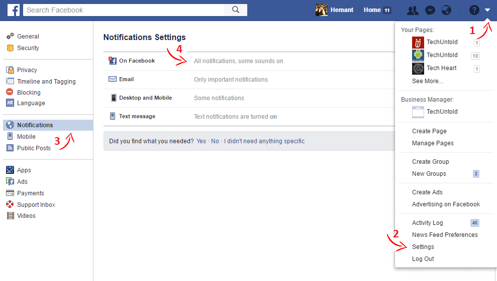 How To Turn On/Off Facebook Notifications: Birthday, Friends Posts, Saved Items & More