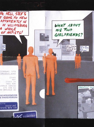 Really gone to New York 1999, mixed media on paper
