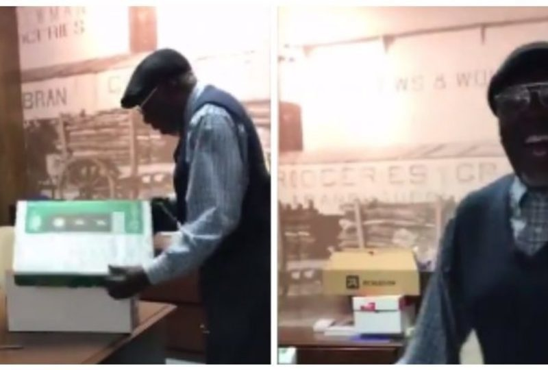 Bank Employee Suffered A Personal Loss So His Co-Workers Surprised Him With The Best Gift Ever.