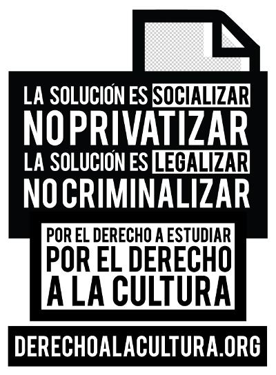 Por el derecho a estudiar. Por el derecho a la cultura