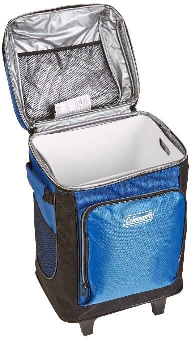 Coleman 42-Can Wheeled Soft Cooler Open - best soft ice chests