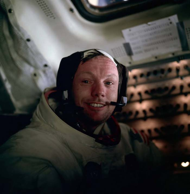 12 - Neil Armstrong right after he walked on the moon