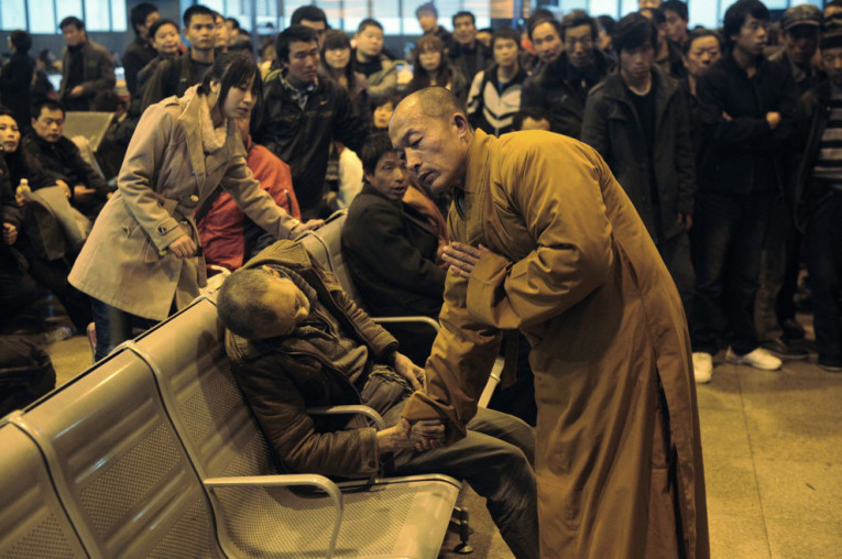 monk prayer for dead man