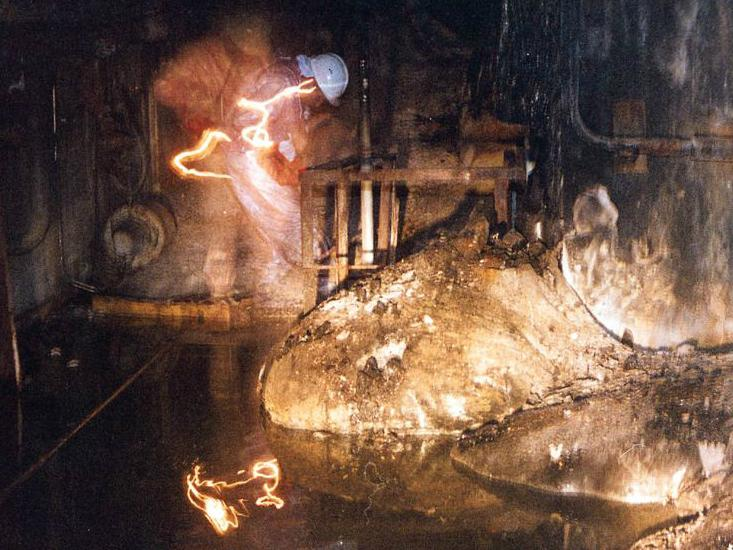 1 - The molten radioactive core after the Chernobyl accident