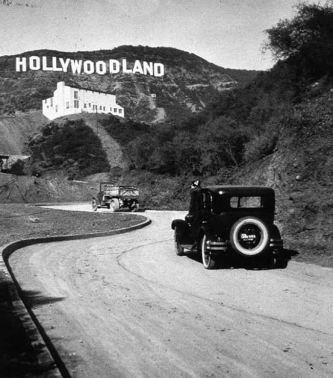 10 - The Hollywood sign right after it was built