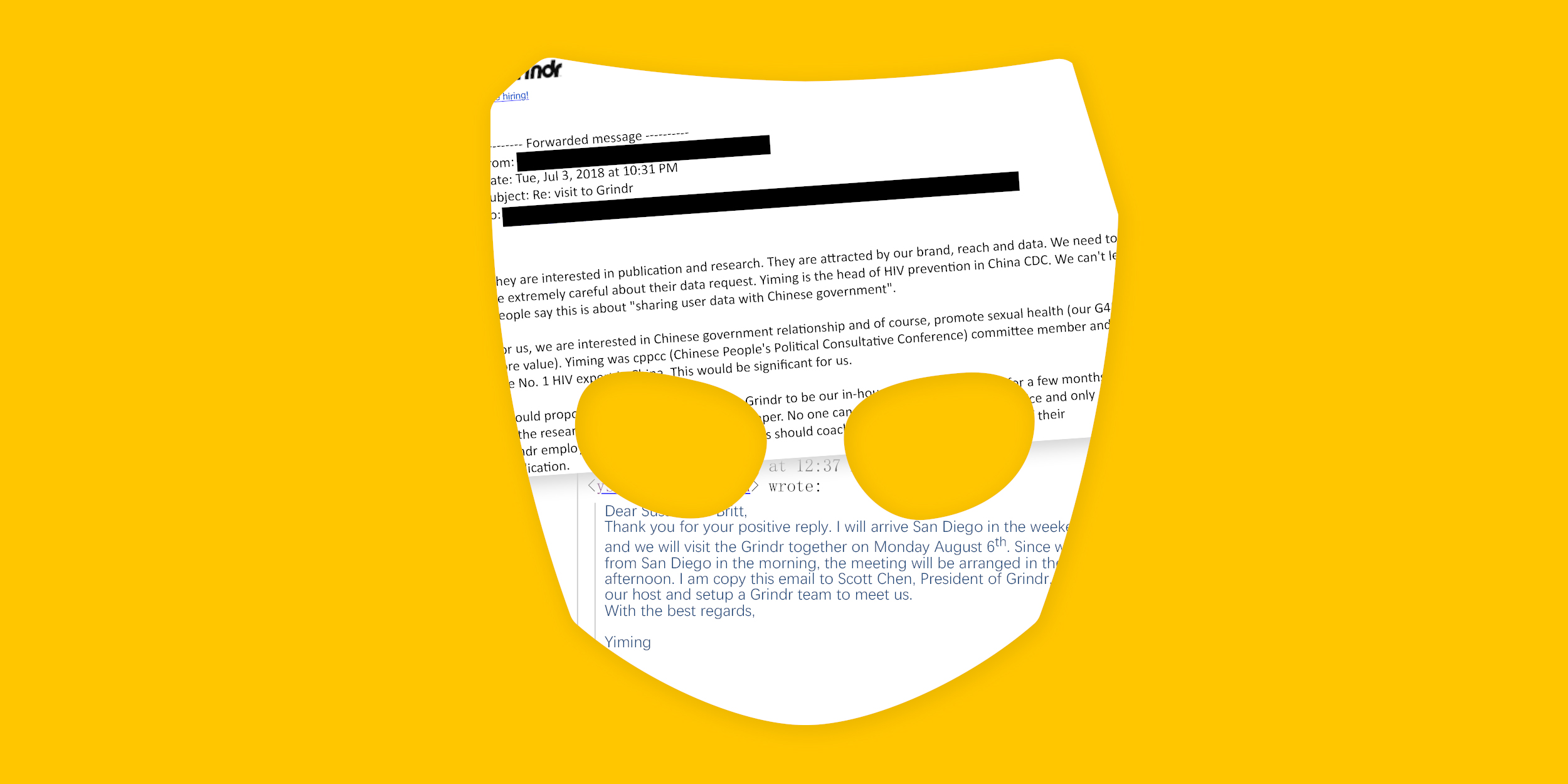 Grindr emails reveal concern that China wanted to access user data