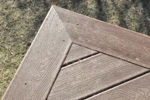 Deck picture frame border