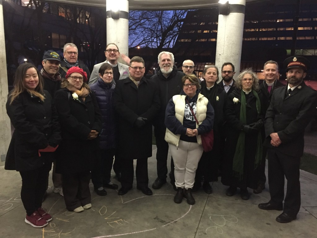 Interfaith clergy at #TorontoStrong Vigil