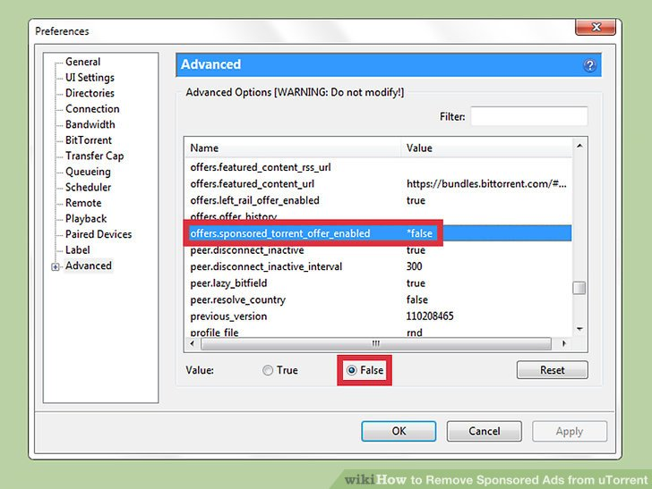 Image titled Remove Sponsored Ads from uTorrent Step 6