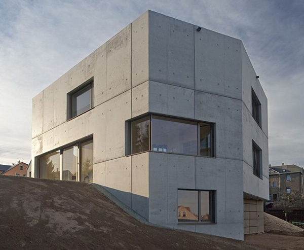 Concrete Home Designs Zwickau Germany 9 Minimalist In