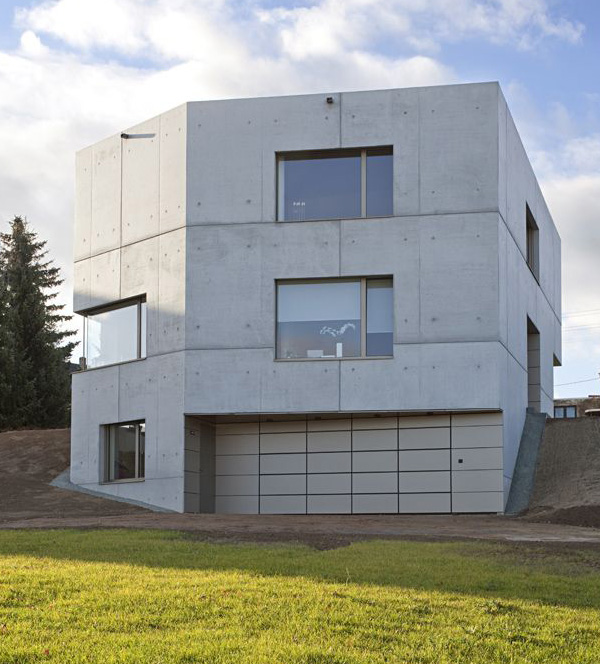 Concrete Home Designs Zwickau Germany 11 Jpg
