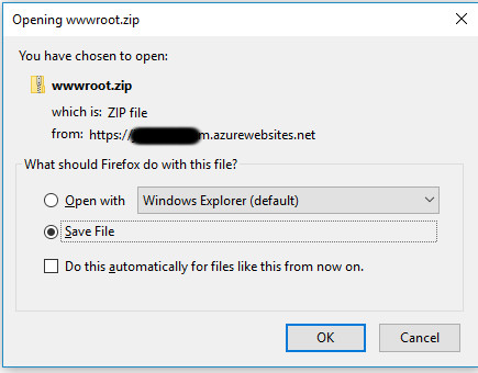 Image of downloading a zip