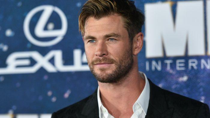 Chris Hemsworth MIB premiere Thor