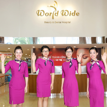 Reception staff at Worldwide Beauty and Dental Hospital