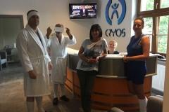 recepcja gabinetu krioterapii i rehabilitacji cryos wroclaw