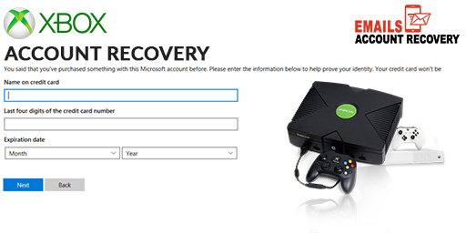 Xbox account recovery