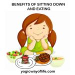 Benefits of sitting down and eating