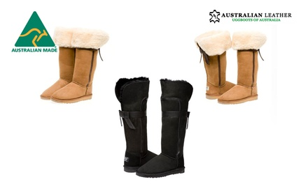$129 for a Pair of Australian Leather Long UGG Boots with a Back Bow (Don't Pay $289)