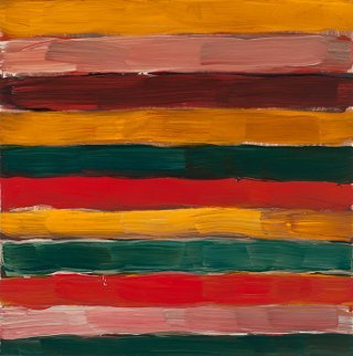 Sean Scully, 2016, Landline Pink, Pont