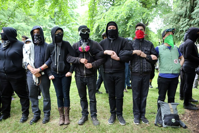 Members of Antifa beat a small, gay, Asian-American journalist in Portland this weekend. Brave!