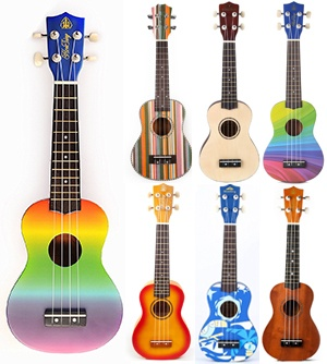 Honsing Soprano Ukulele Fade Color New Basswood Hawaii Guitar 21 Gift for Children