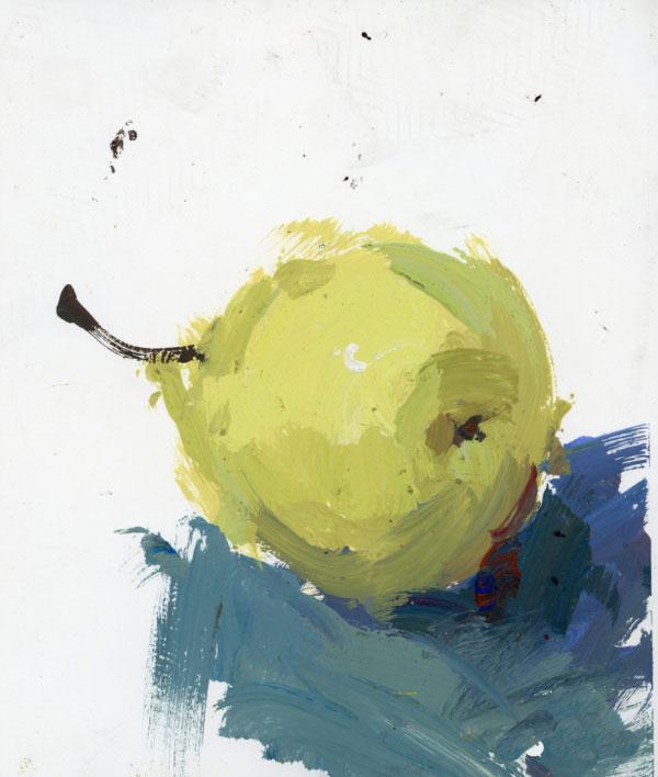 蔬菜和水果静物水粉画单个练习