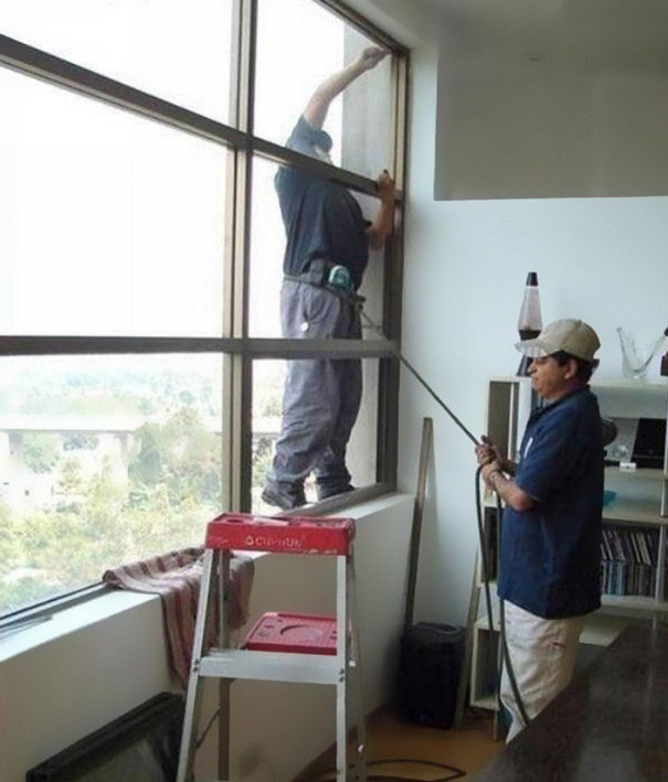 #29 Building Glass Cleaner Safety In India