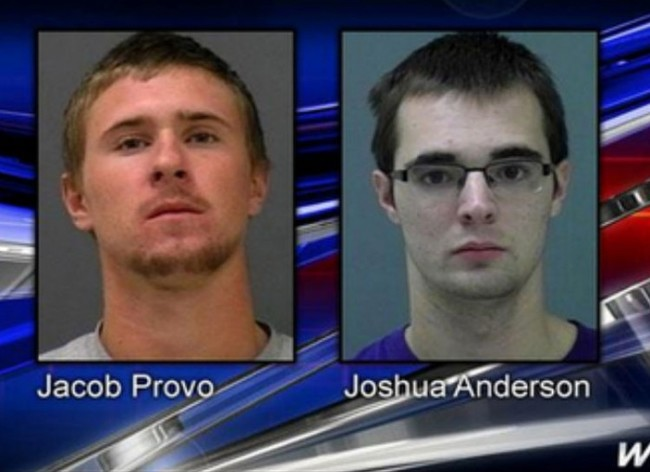 THESE TWO GUYS WHO WERE ARRESTED...