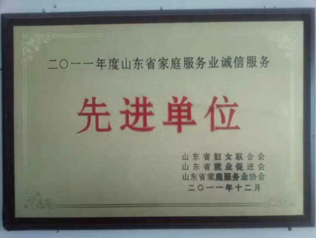 济南大地职业培训学校被评委先进单位