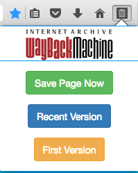 Save an archive or a URL to the Wayback Machine or see the first, or most recent, archive of that URL.