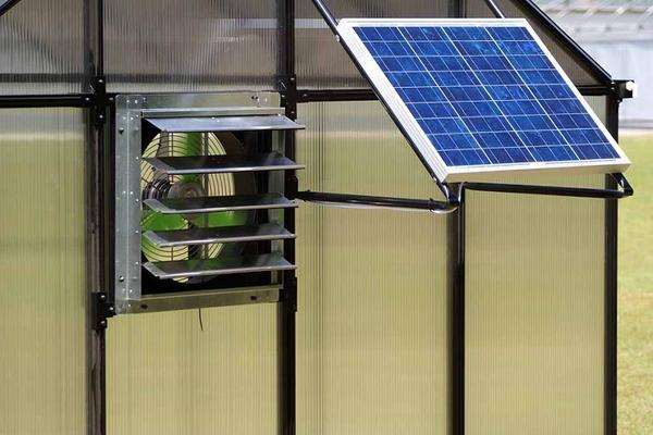 Ventilation is important for greenhouses - It can also use solar power