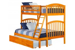 Richland Bunk Twin over Full with Urban Trundle Bed in Caramel Latte