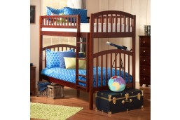 Richland Bunk Twin over Twin in Antique Walnut