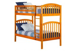 Richland Bunk Twin over Twin in Caramel Latte