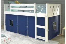 Twin Circles Tent Loft - White -Blue Tent