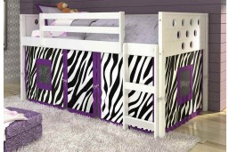 Twin Circles Tent Loft - White -Purple and Black Zebra Tent