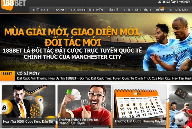 Giao diện 188bet